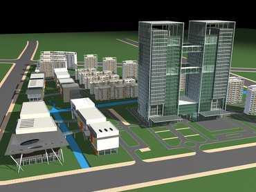 某商业综合楼建筑效果图免费下载 建筑效果图高清图片