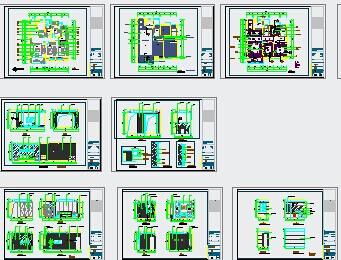 现代中式样板间户型施工图图片