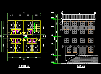 中式宾馆建筑设计图纸