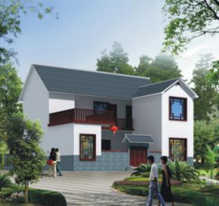 农村二层别墅建筑设计图纸