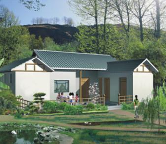 农村一层别墅建筑设计图纸免费下载-农村别墅建筑效果图