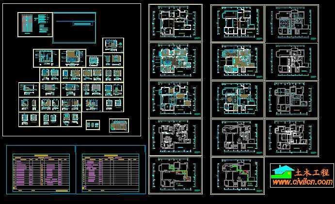 别墅装修施工图