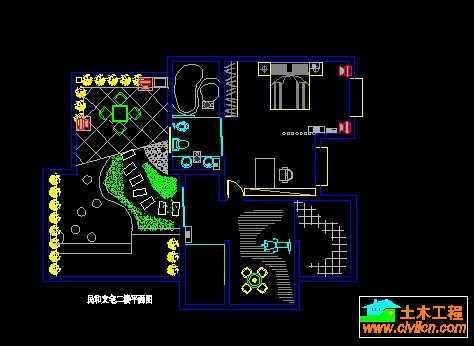 民和楼中楼室内装修平面图