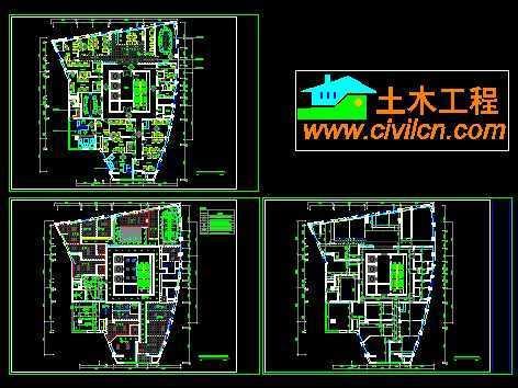金泰大厦办公室装修平面图免费下载 建筑装修图 高清图片