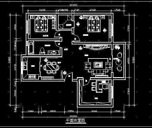 家庭装修施工图1免费下载