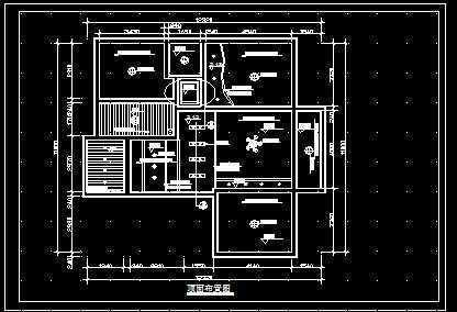 普通家装室内手绘顶棚平面图