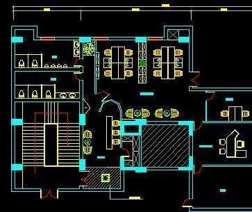家装设计平面图-某国际广场CAD装修图