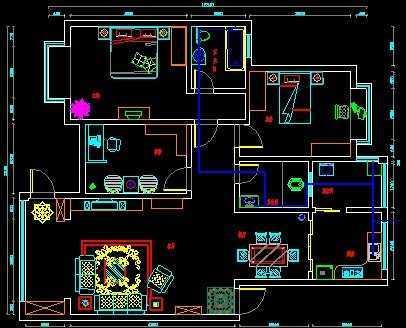 家装施工平面图