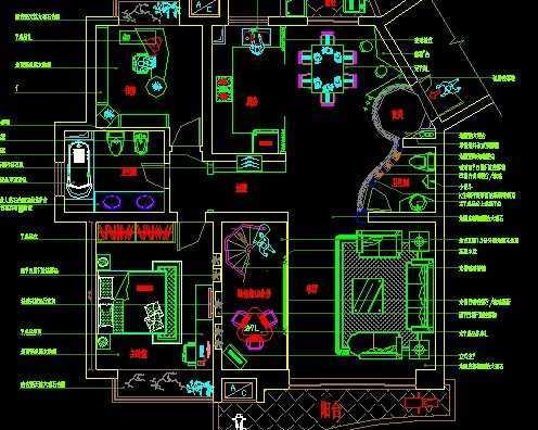 跃层套房室内装饰施工图