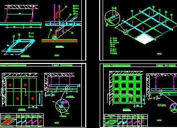 ... 龙骨吊顶施工图 免费下载 - 建筑装修图 - 土木工程网