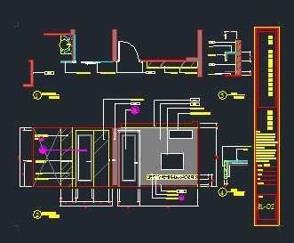 现代欧式混搭风格室内装修施工图