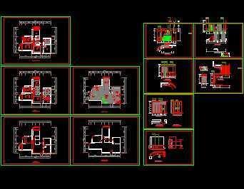 三室两厅住宅家装设计图免费下载 建筑装修图