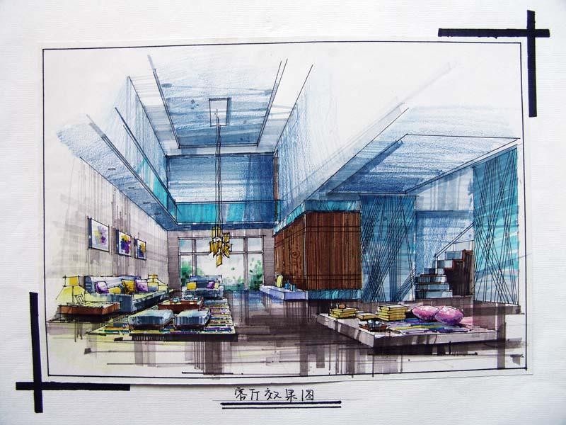 别墅手绘方案图免费下载 - 建筑效果图 - 土木工程网