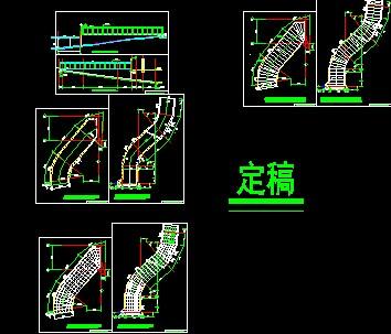 阳光坡道雨棚设计详图免费下载 钢结构高清图片