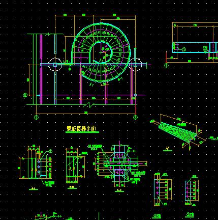 旋转楼梯设计图免费下载