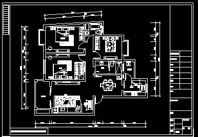 三室两厅家装施工图