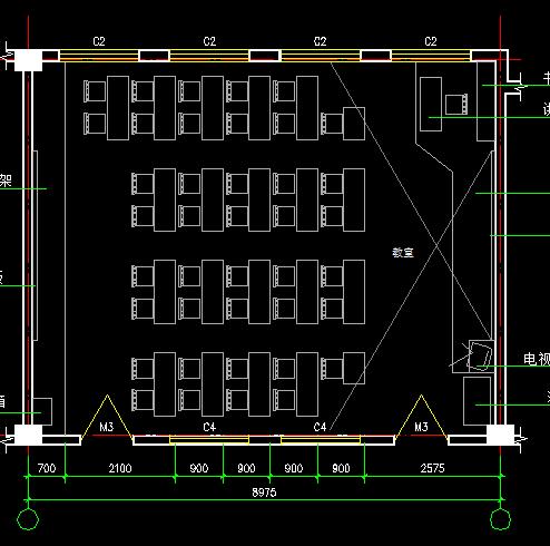 某学校教室装修平面设计图纸