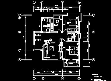 两室一厅住宅装修施工图