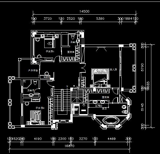 现代欧式两层独栋别墅装修施工图附效果图