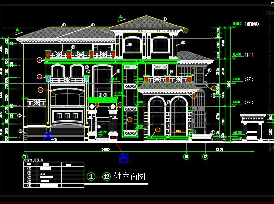 三层别墅外装修施工图纸