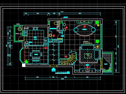 96平方米三层别墅装修全套设计图纸