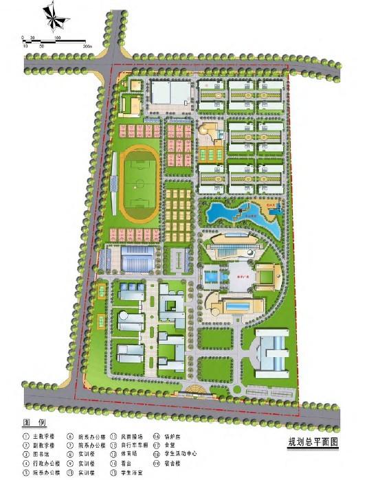 大学校园规划设计文本图片