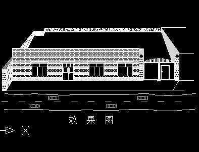 农村小院别墅立面图免费下载 别墅图纸