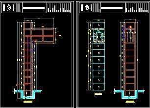 3层3站,7层2站 观光电梯井道及井道玻璃幕墙装修价格图片