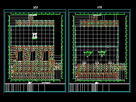 100吨燃煤锅炉结构设计图