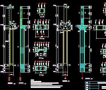 边框工业厂房结构v边框图纸免费下载-单层毕业cad图课程绘制层图片