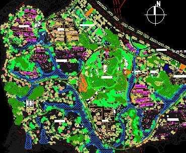 某别墅区景观总平面图