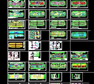 某框架结构办公楼建筑结构设计图纸