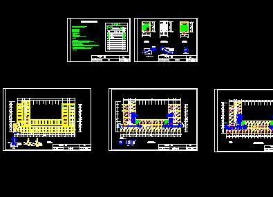 七层砖混学生公寓毕业设计(计算书、施组、建筑、结构图)