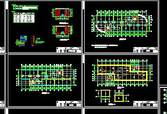 六层框架教学楼毕业设计(图纸、计算书、计算文件)