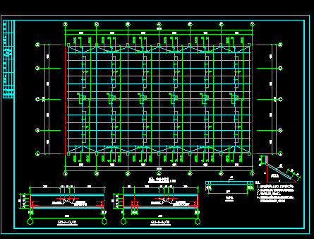 21米钢屋架设计图