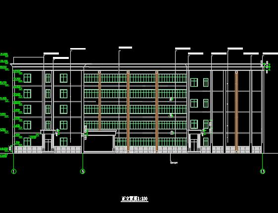 5100平米五层框架结构教学楼毕业设计