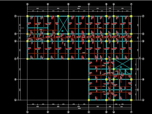 7000平米七层框架结构教学楼毕业设计