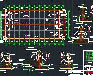 水池消防结构地面设计图免费下载-结构厂房室内设计2d图怎么画的图片