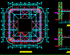 酒店图纸钢结构锻造结构免费下载-厂房图纸屋面60深化图片