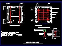 某电梯工程井脚手架布置纸刀尼泊尔图详图的图片