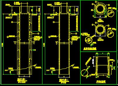 桩基、墩基、承台大样图、人工挖孔桩模板设计详图
