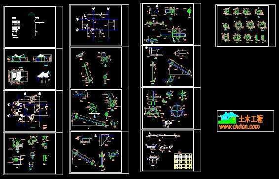 张拉膜工程结构施工图免费下载