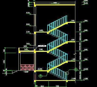楼梯设计施工图免费下载