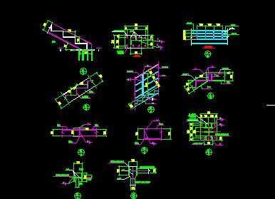 某钢结构楼梯节点构造详图