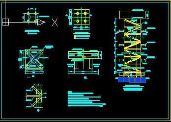 某塔吊基础节点构造详图