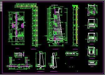 扶壁式钢筋混凝土挡土墙详图免费下载 - 钢结构
