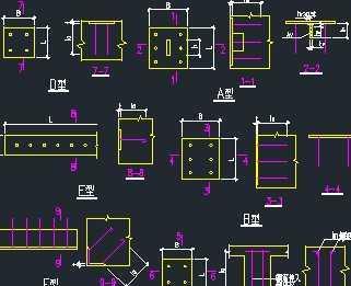 建筑工程预埋件大样图集免费下载