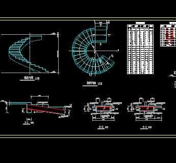 某螺旋楼梯结构施工图免费下载 钢结构