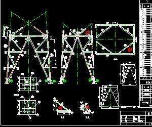 某输电铁塔工程设计图图片