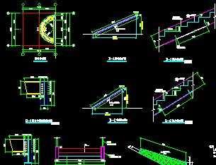 展厅螺旋楼梯结构图免费下载 钢结构